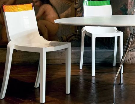 Kartell Hi Cut Dining Side Chair (Sold in 2)