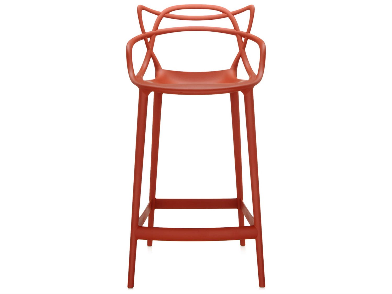 kartell masters rust orange counter stool kar586915. Black Bedroom Furniture Sets. Home Design Ideas
