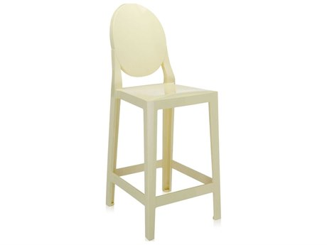 Kartell One More Yellow Counter Stool (Sold in 2)