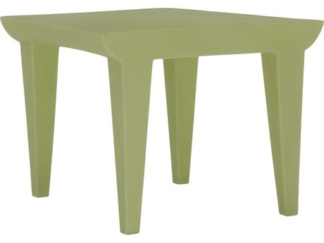Kartell Bubble Club Light Green 20'' Wide Square End Table