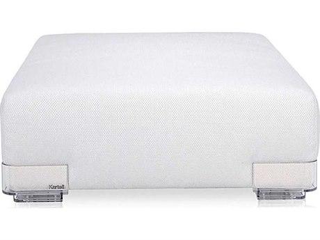 Kartell Plastics Duo Nile White 45'' Wide Ottoman