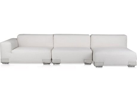 Kartell Plastics Duo Left Arm Facing Sectional Sofa