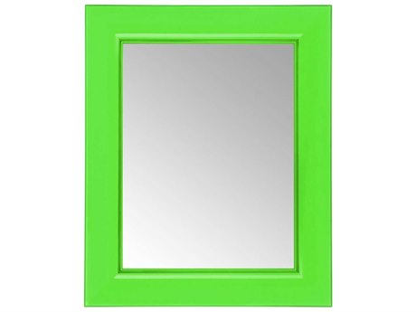 Kartell Francois Ghost Transparent Bottle Green 26''W x 31''H Rectangular Wall Mirror
