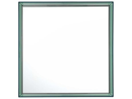 Kartell Only Me Transparent Green 20'' Wide Square Wall Mirror