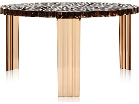 Kartell T-Table 20'' Wide Round End Table