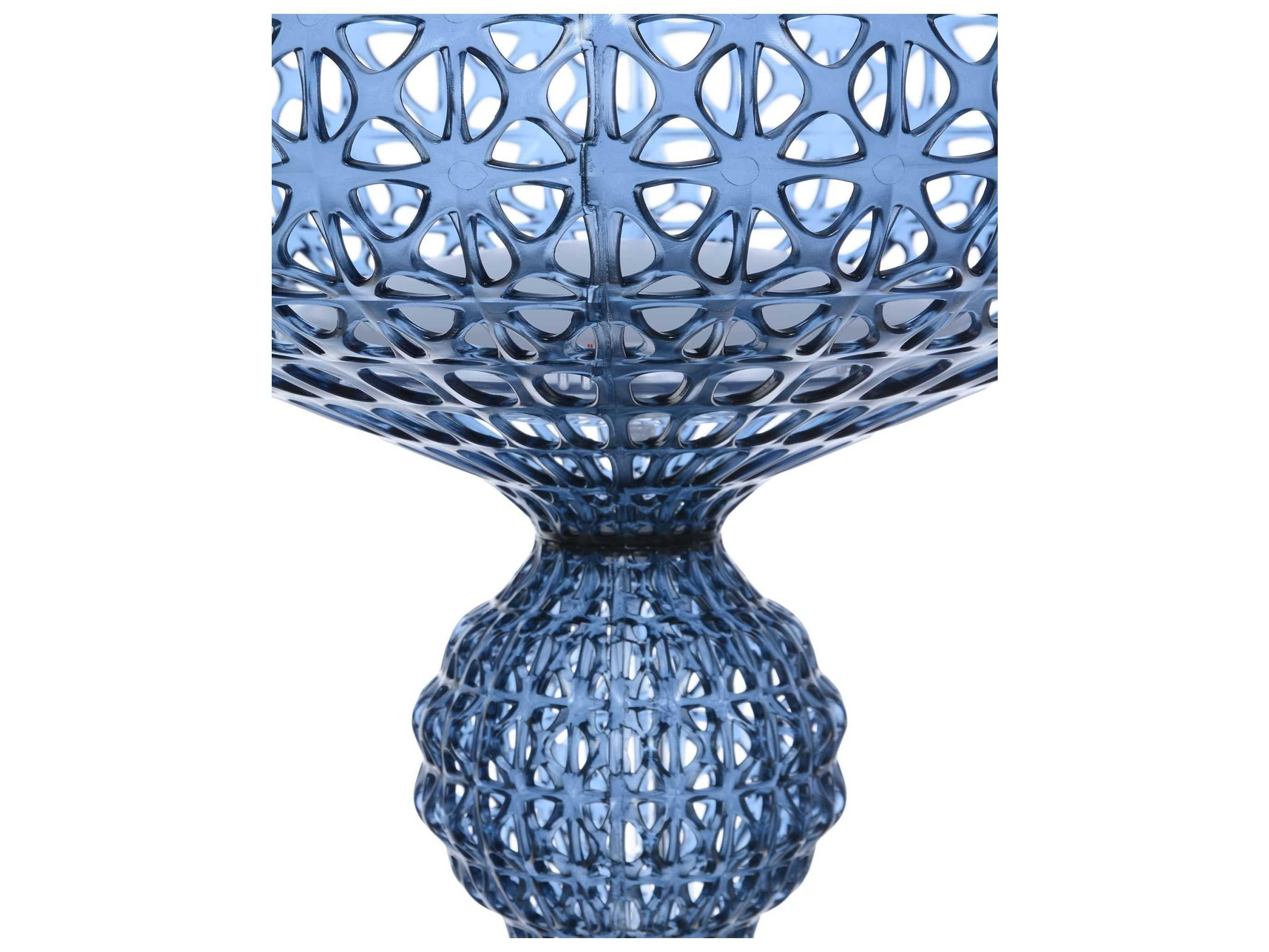 Kartell Kabuki Transparent Light Blue Led Floor Lamp