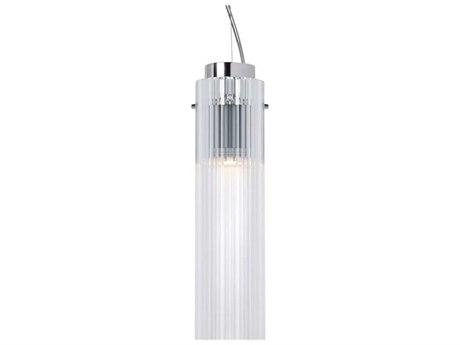 Kartell Rifly Transparent Crystal 12'' High LED Mini Pendant Light