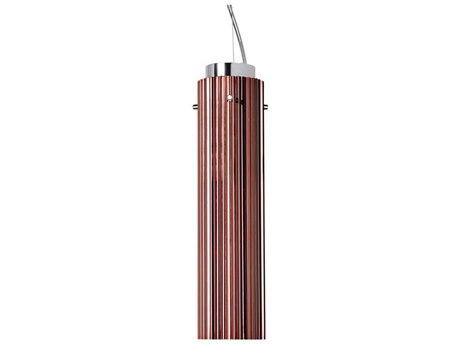 Kartell Rifly Metallic Copper 12'' High LED Mini Pendant Light