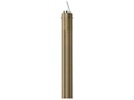 Kartell Rifly Metallic Gold 24'' High LED Pendant Light