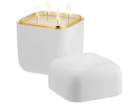 Kartell Oyster White Ghost Diamond Candle Holder (Sold in 2)