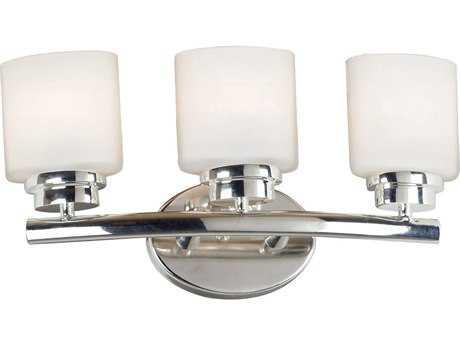 Kenroy Home Bow Polished Nickel Three-Light Vanity Light