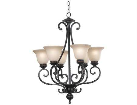 Kenroy Home Oliver Oil Rubbed Bronze Six-Light 22'' Wide Chandelier