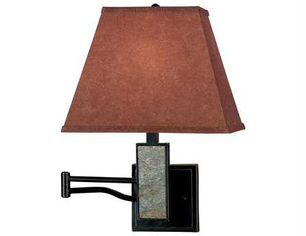 Kenroy Home Dakota Oil Rubbed Bronze with Natural Slate Accents Wall Swing Arm Lamp