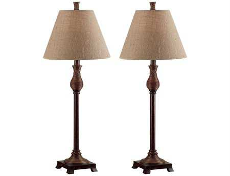 Kenroy Home Santiago Natural Reed Buffet Lamp (Pack of 2)