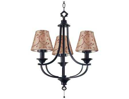 Kenroy Home Belmont Oil Rubbed Bronze Three-Light 10'' Wide Outdoor Chandelier