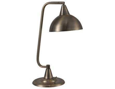 Kenroy Home Hanger Antique Brass Desk Lamp