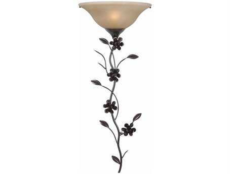 Kenroy Home Blooms Golden Flecked Bronze Wallchiere Wall Light