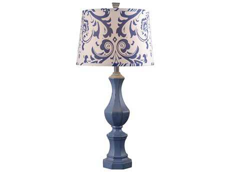 Kenroy Home Gianni Distressed Navy Table Lamp