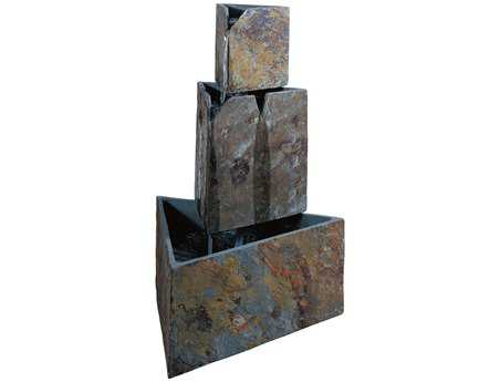 Kenroy Home Stacked Triangles Natural Slate Fountain