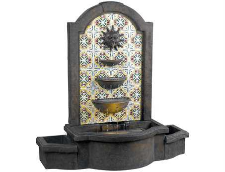 Kenroy Home Cascada Madrid with Patterned Tile Motif Floor Fountain