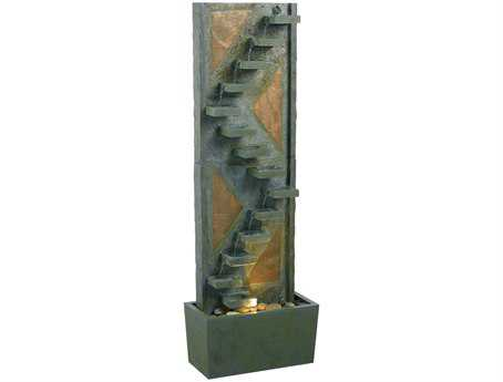 Kenroy Home Traverse Natural Green Slate with Natural Copper Accents Floor Fountain