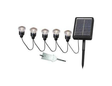 Kenroy Home Seriously Solar Black Five-Light String Mount
