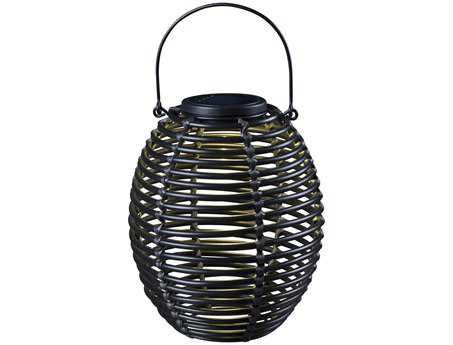Kenroy Home Seriously Solar Black Coil Lantern
