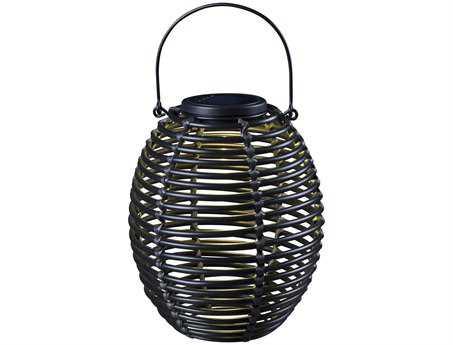 Kenroy Home Seriously Solar Black Coil Lantern