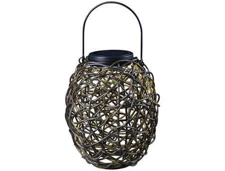 Kenroy Home Seriously Solar Black Tangle Lantern