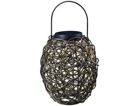 Kenroy Home Seriously Solar Black Tangle Lantern