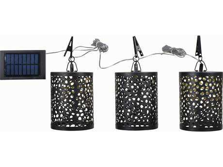 Kenroy Home Dawn Oil Rubbed Bronze Three- Light Solar Umbrella Set