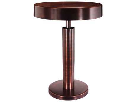 Kenroy Home Altair Copper Antique 16'' Round Accent Table
