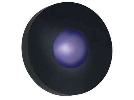 Kenroy Home Burst Black Small Round Wall Sconce - Flush