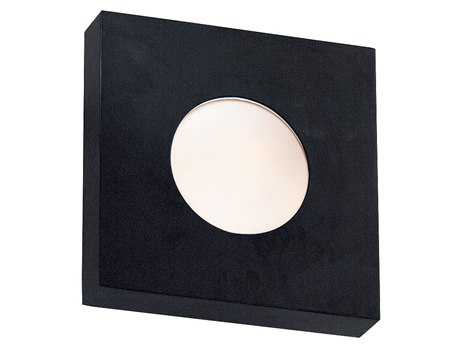 Kenroy Home Burst Black Large Square Wall Sconce - Flush