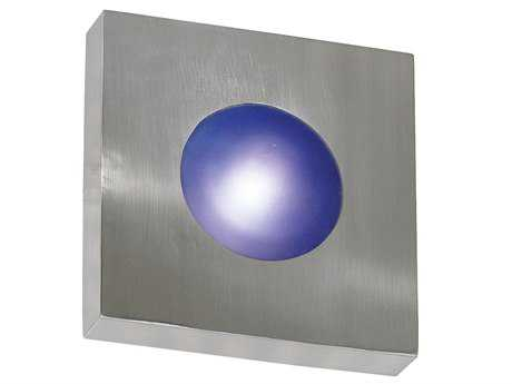 Kenroy Home Burst Polished Aluminum Large Square Wall Sconce - Flush