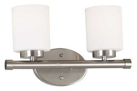 Kenroy Home Mezzanine Brushed Steel Two-Light Vanity Light