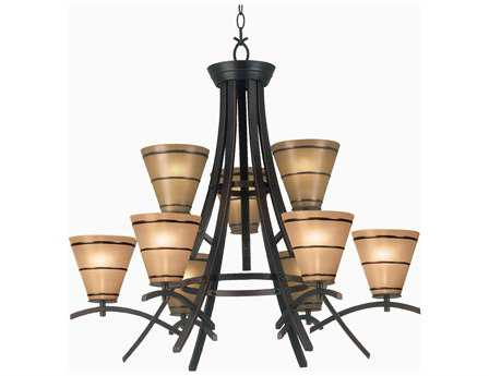 Kenroy Home Wright Oil Rubbed Bronze Nine-Light 35'' Wide Chandelier