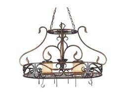 Kenroy Home Verona Aged Golden Copper Two-Light Pot Rack