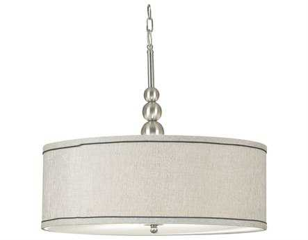 Kenroy Home Margot Brushed Steel Three-Light Pendant