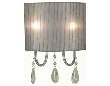Kenroy Home Arpeggio Chrome Two-Light Wall Sconce