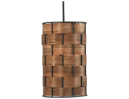 Kenroy Home Shaker Dark Woven Wood Mini-Pendant