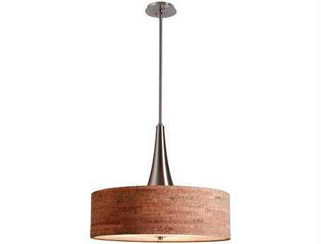 Kenroy Home Bulletin Brushed Steel Three-Light Pendant