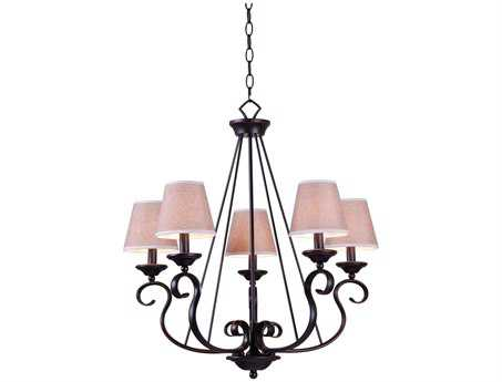 Kenroy Home Basket Oil Rubbed Bronze Five-Light 8'' Wide Chandelier