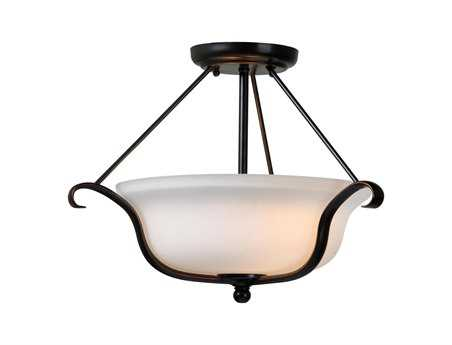Kenroy Home Basket Oil Rubbed Bronze Two-Light Semi-Flush Mount