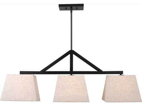 Kenroy Home Intersect Oil Rubbed Bronze Three-Light 43'' Long Island Light