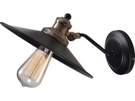 Kenroy Home Ancestry Black Wall Sconce