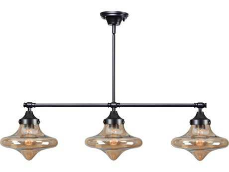 Kenroy Home Rain Drop Warm Bronze  Three-Light 40.5'' Long Island Ceiling Light
