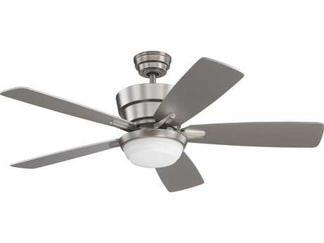 Kendal Lighting Barcelona Satin Nickel with Silver Blades 44'' Wide Ceiling Fan with Light