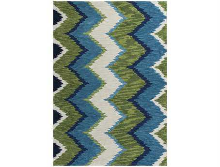 KAS Rugs Anise Blue & Green Chevron Area Rug