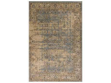 KAS Rugs Jasmine Blue & Ivory Rectangular Area Rug